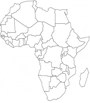 africa map amp coloring book