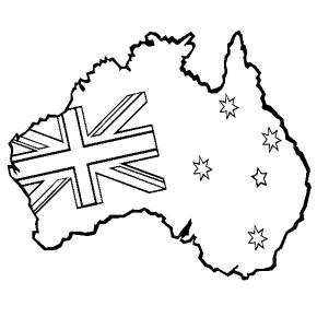 australia australia flag coloring page australia coloring page