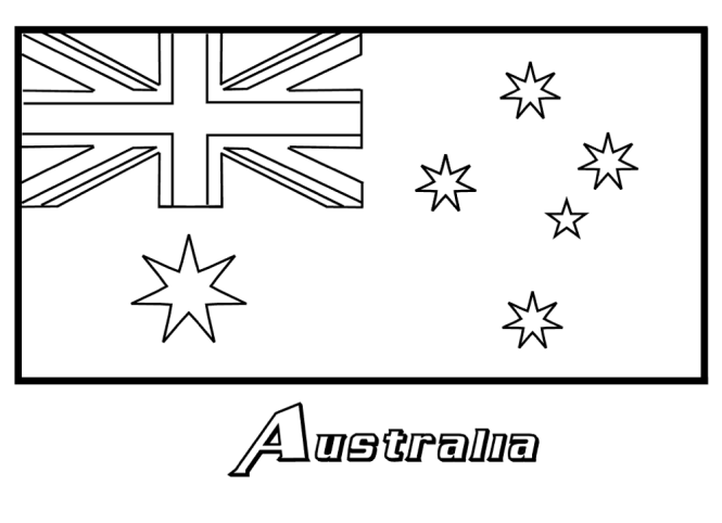 Coloring pages australian flag driverlayer search engine for Flag of australia coloring page