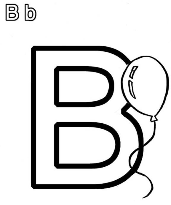 b coloring page & coloring book
