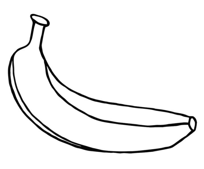 banana coloring page & coloring book