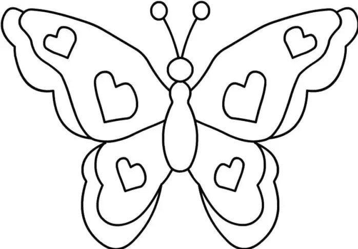Butterfly Coloring Page Amp Coloring Book