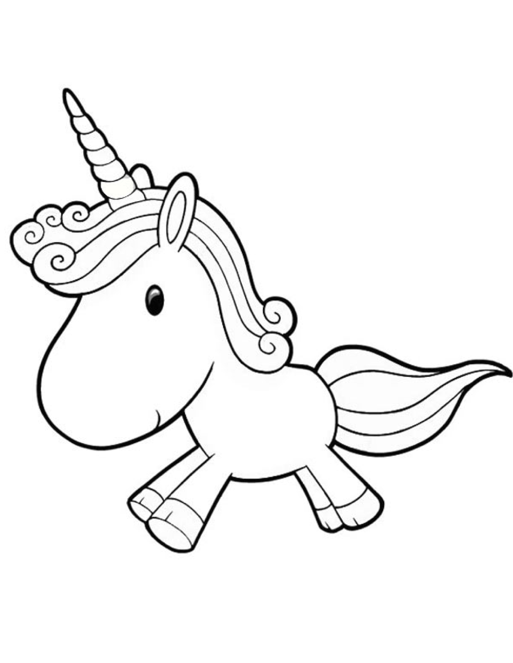 Cartoon Unicorn Coloring Page Coloring Page Amp Book For Kids