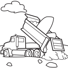 trucks dump truck coloring page printable fire truck coloring