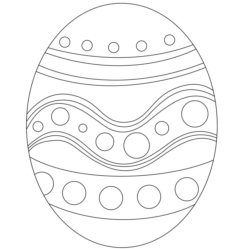 easter egg printable page book