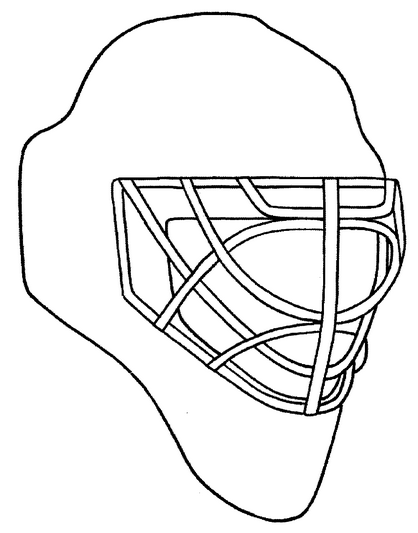goalie mask coloring page amp coloring book