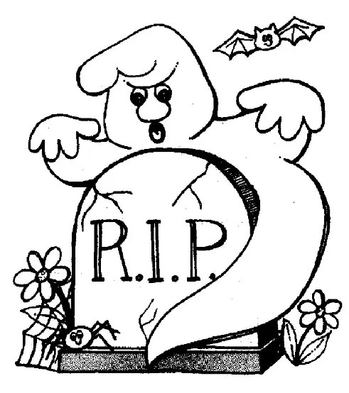 halloween rip coloring page amp coloring book