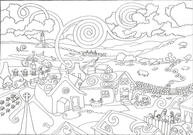 Hard Adult Coloring Page Coloring Page Amp Book For Kids