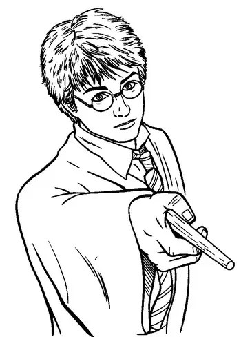 Harry Potter Wand Coloring Page Amp Coloring Book