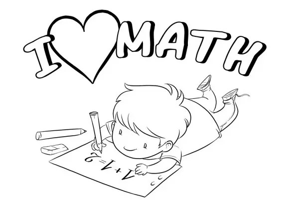 I Love Math Amp Coloring Book