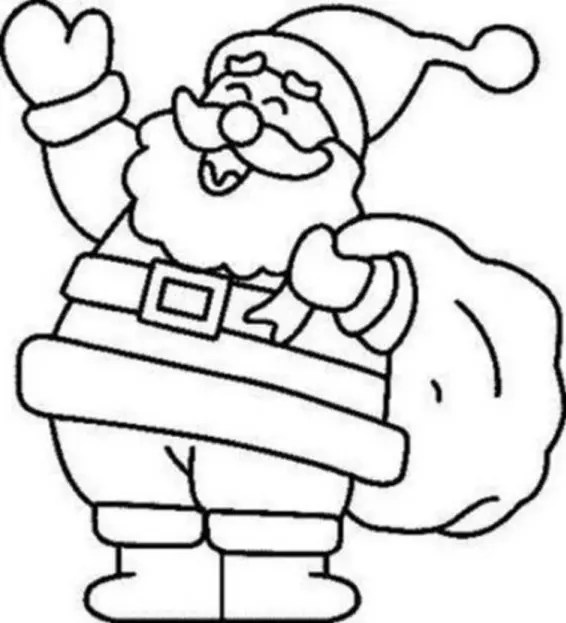 coloring pages of santa claus # 2