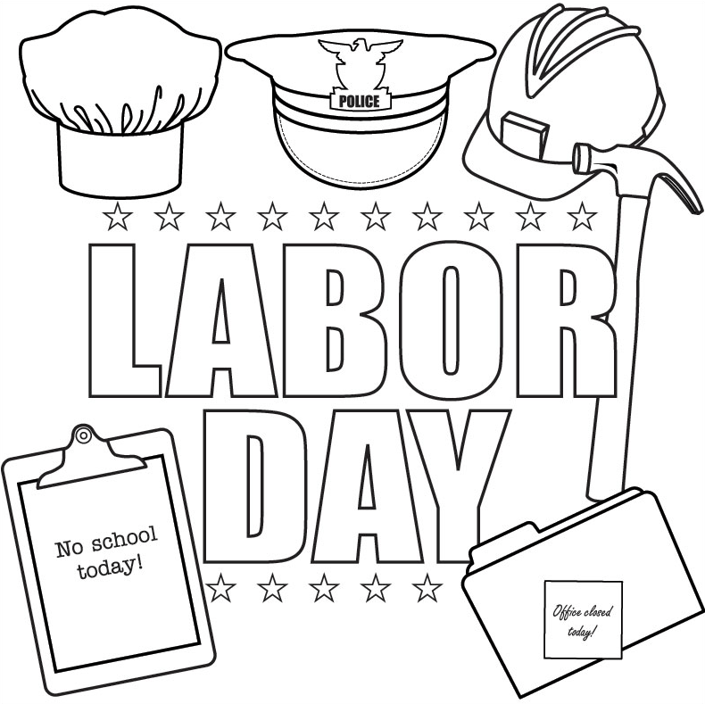 labor day coloring page amp coloring book