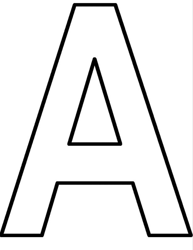 printable letter a coloring page coloringpagebook com