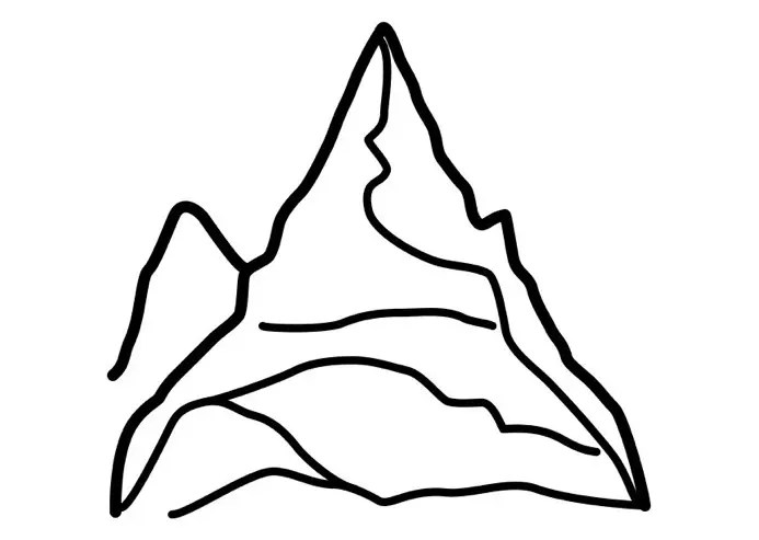 mountain coloring page & coloring book