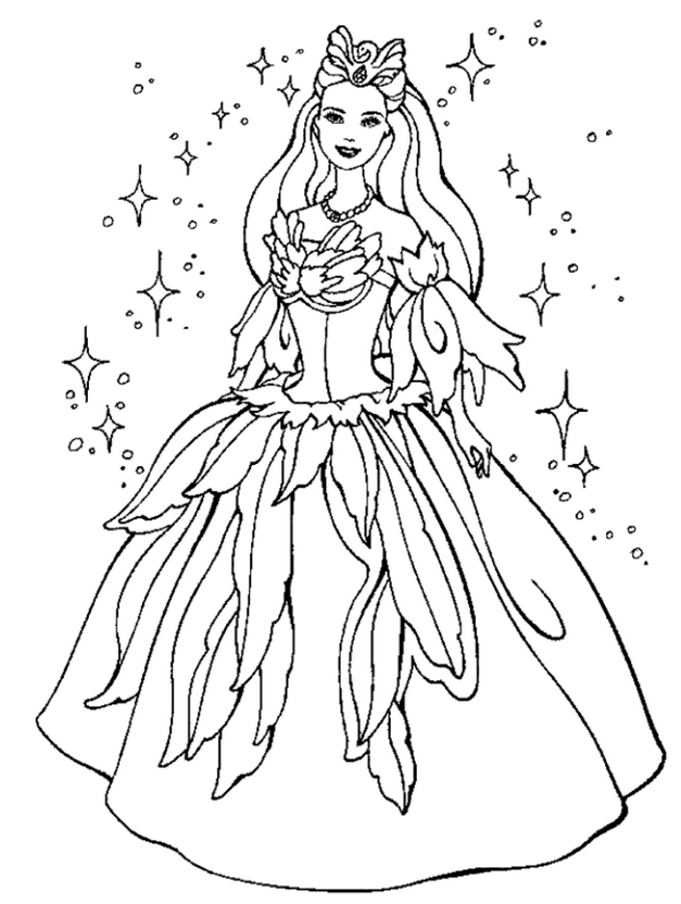 japanese princess colouring pages