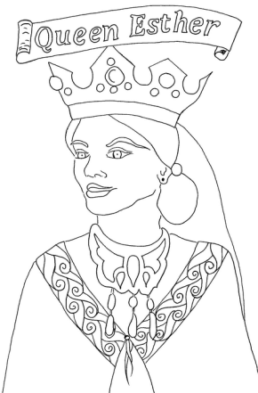 Purim Coloring Page Amp Coloring Book