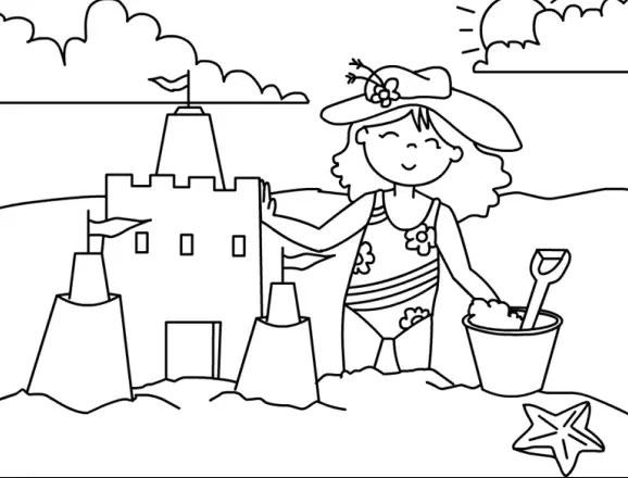 sand castle coloring page amp coloring book