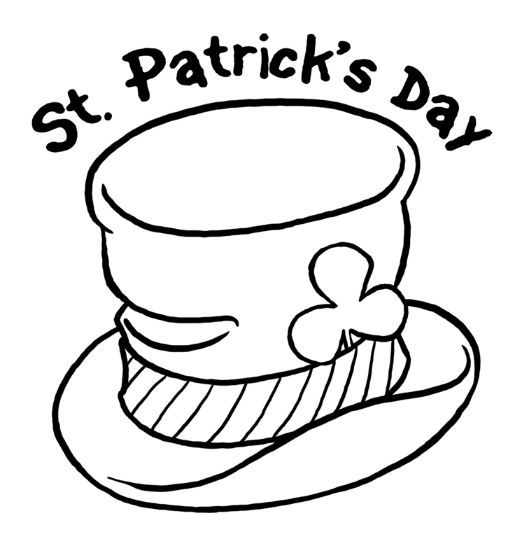 printable st paticks day hat coloring page coloringpagebook
