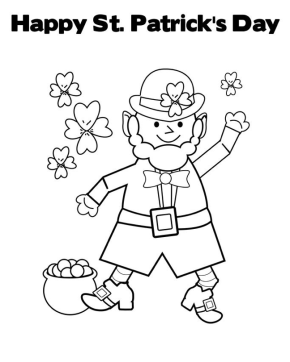 st patricks day cute leprechaun coloring page st patrick 39 s day