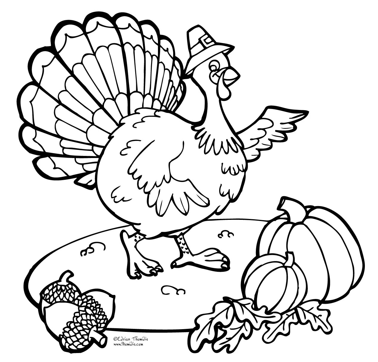 Thanksgiving Turkey Coloring Book