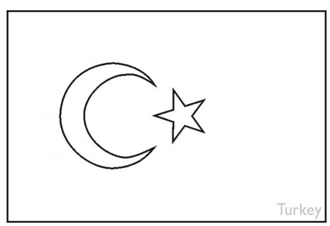 turkey flag coloring page amp coloring book