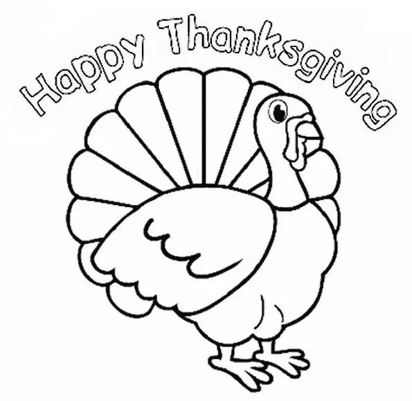 thanksgiving turkey coloring page # 4