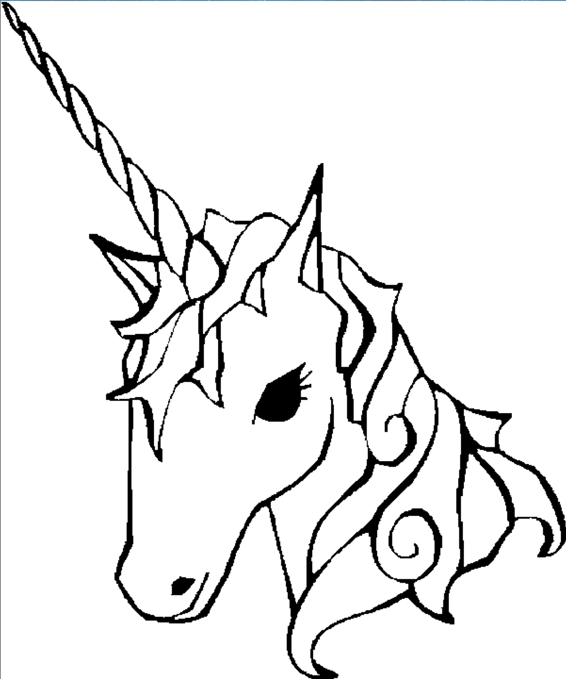 Unicorn Coloring Page Coloring Book