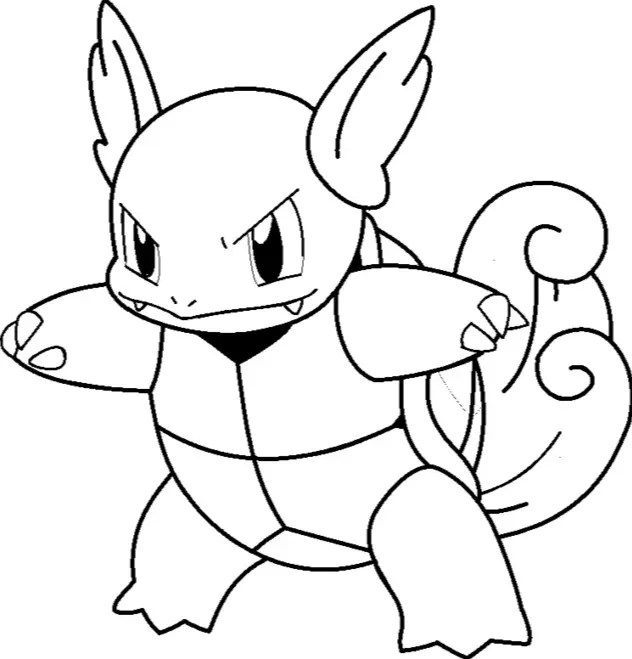 squirtle wartortle blastoise pokemon coloring pages coloring pages