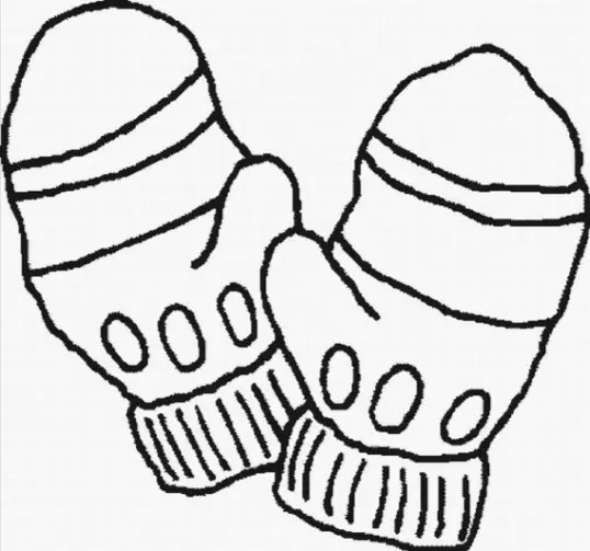 mittens coloring page # 3