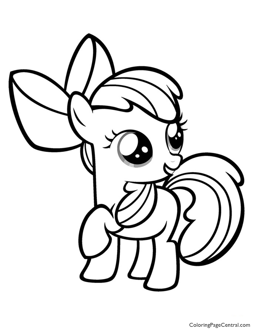 My Little Pony Apple Bloom 01 Coloring Page Coloring Page Central
