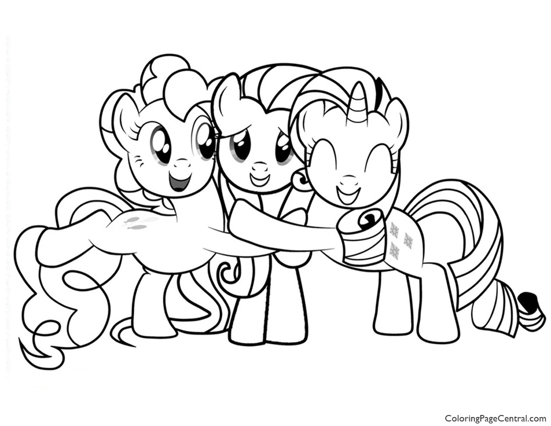 My Little Pony Friendship Is Magic 02 Coloring Page Coloring