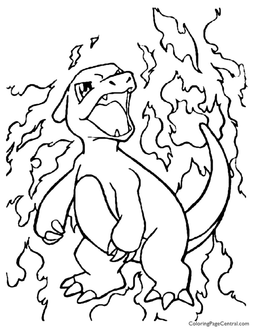 pokemon  charmeleon coloring page 01  coloring page central