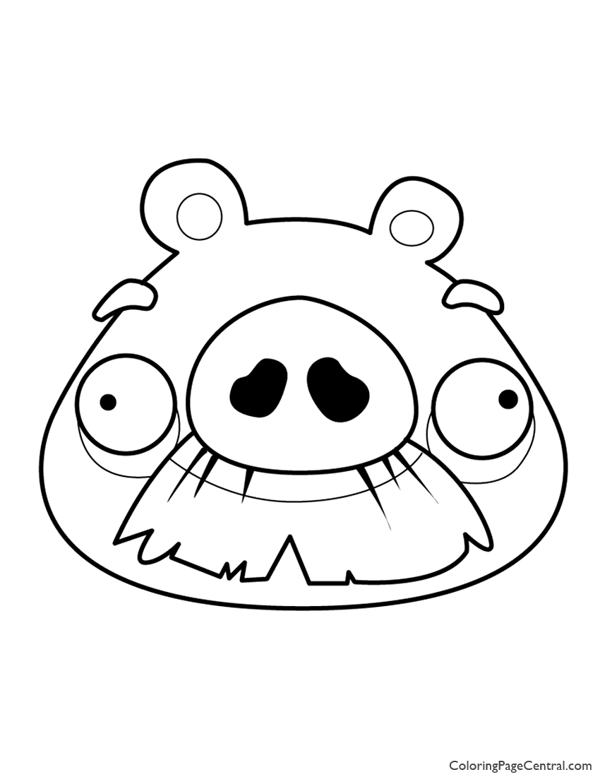 Angry Birds Foreman Pig 01 Coloring Page Central