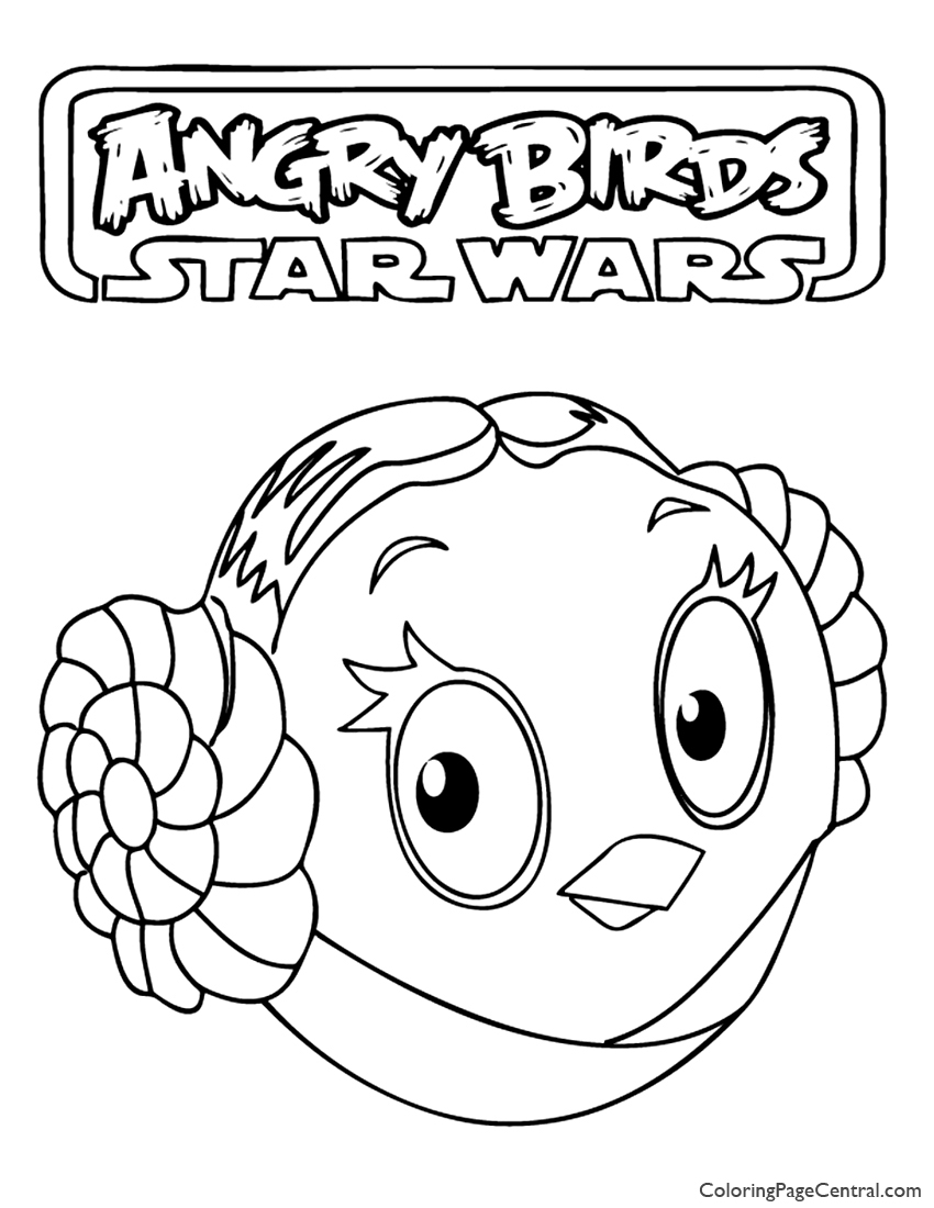 angry birds star wars princess leia 01 coloring page coloring