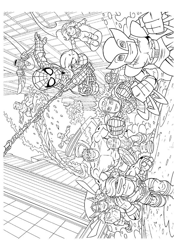thor coloring page # 60