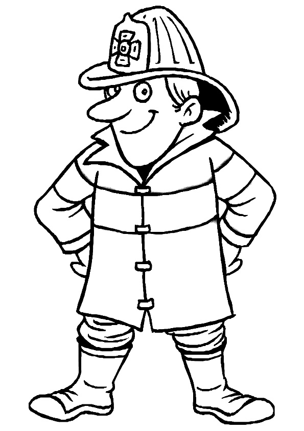 fireman coloring page # 54