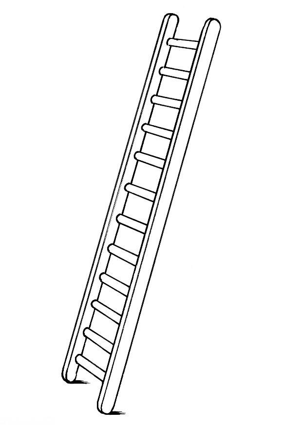 firemans ladder colouring pages