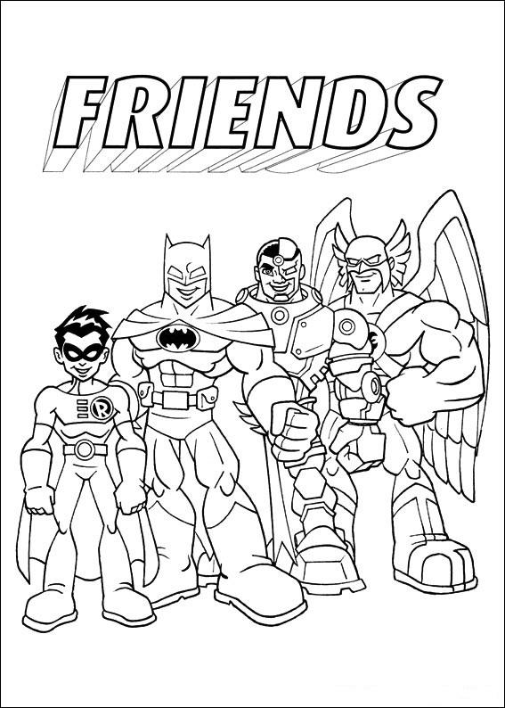 superfriends pages coloringpages1001 com