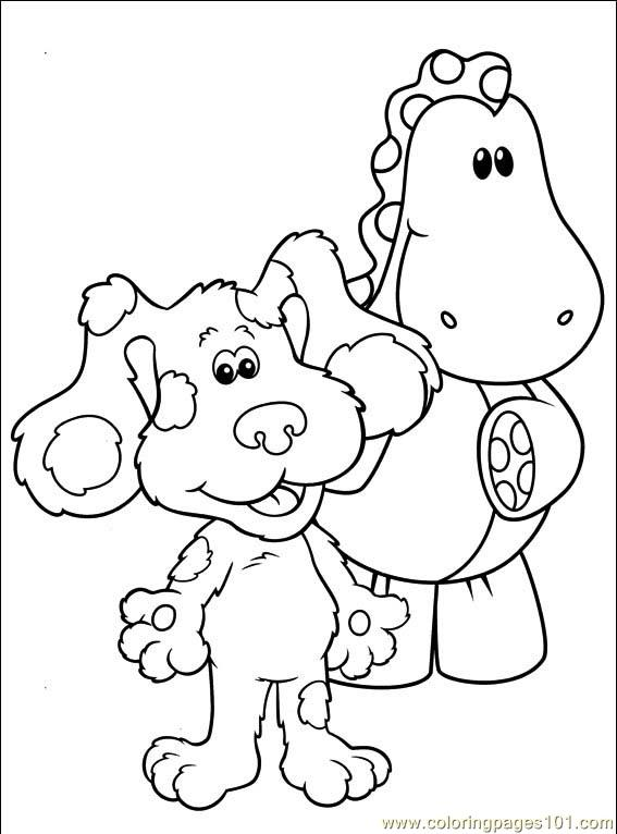 blues clues coloring book pages sketch template