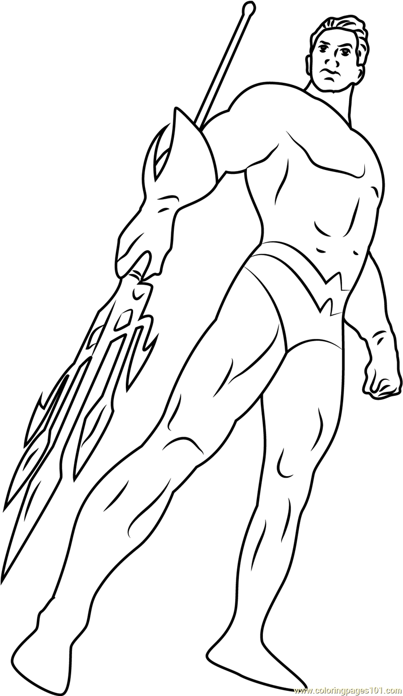 Aquaman Issue The New Coloring Page Free Aquaman