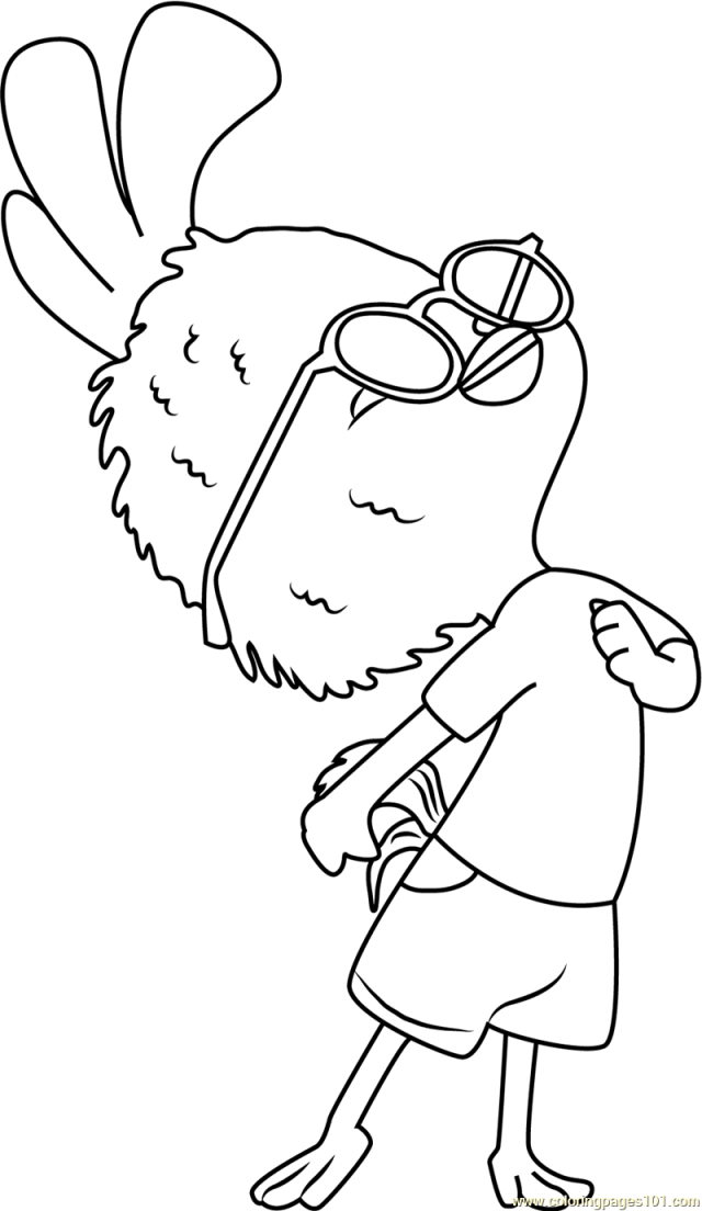 Chicken Little Coloring Page for Kids - Free Chicken Little