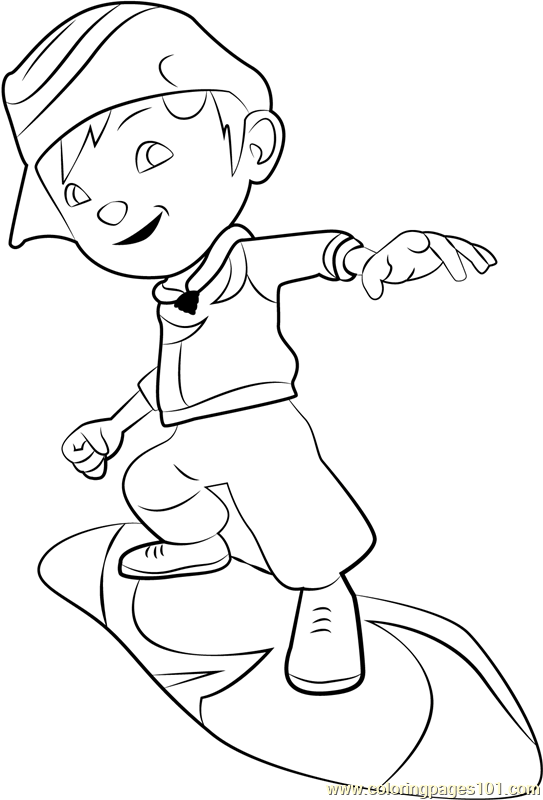 Boboiboy Cyclone Printable Coloring Page For Kids And Adults