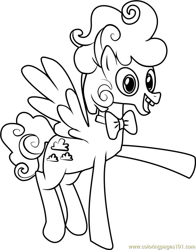 Fluffy Clouds Coloring Page Free My Little Pony