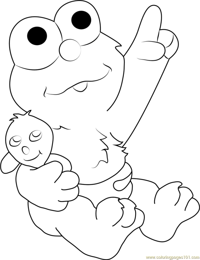 Baby Elmo Coloring Page for Kids - Free Sesame Street Printable