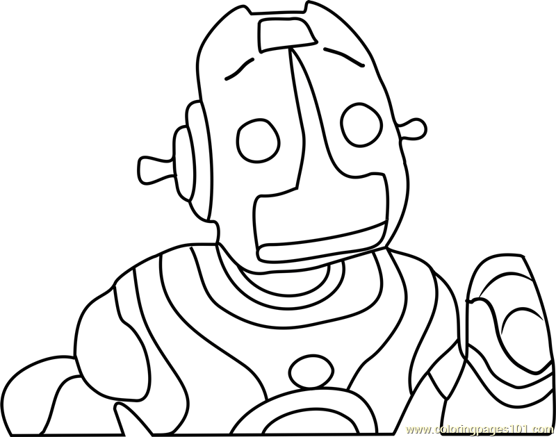 Robot Roscoe Head Coloring Page Free The Backyardigans