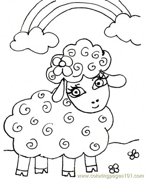 click the sheep mother and lamb coloring pages to view printable