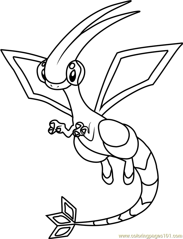 Flygon Pokemon Coloring Page For Kids Free Pokemon Printable Coloring Pages Online For Kids Coloringpages101 Com Coloring Pages For Kids