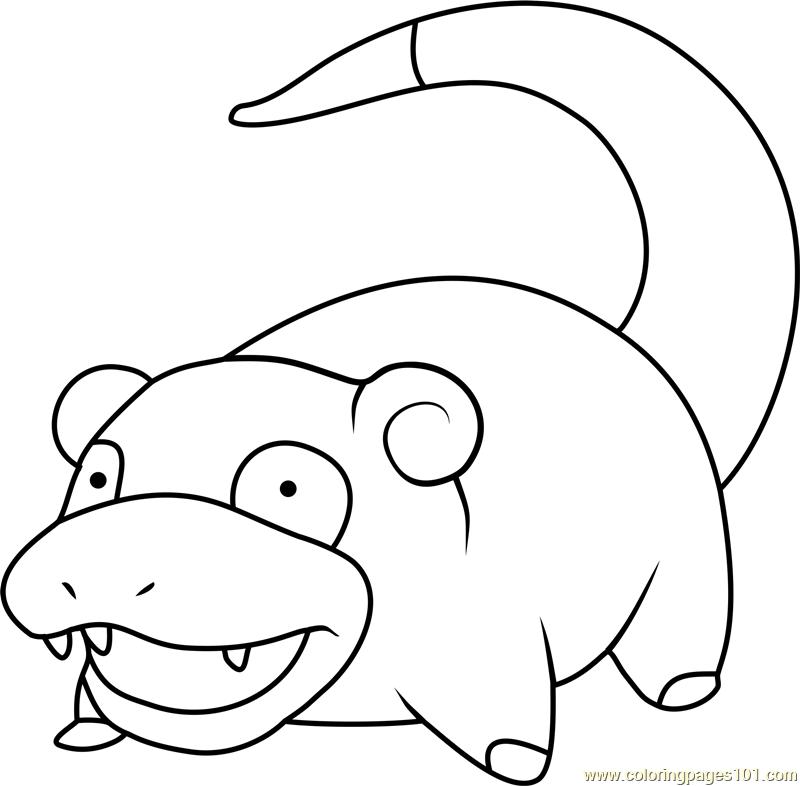 Slowpoke Pokemon Coloring Page For Kids Free Pokemon Printable Coloring Pages Online For Kids Coloringpages101 Com Coloring Pages For Kids