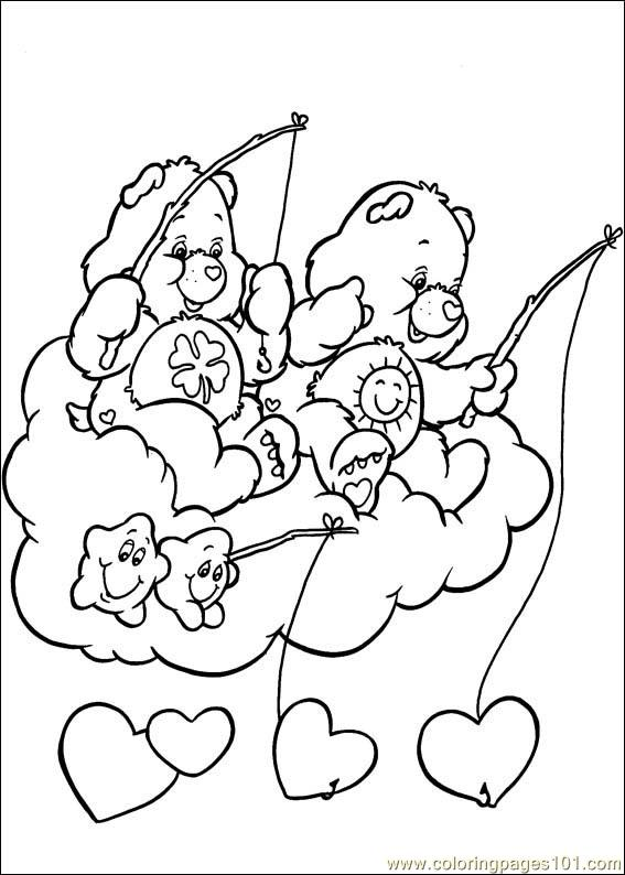 care bears 48 coloring page color online