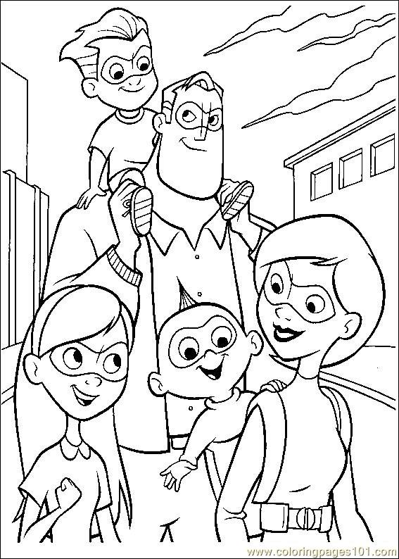 The Incredibles 55 Coloring Page Free The Incredibles